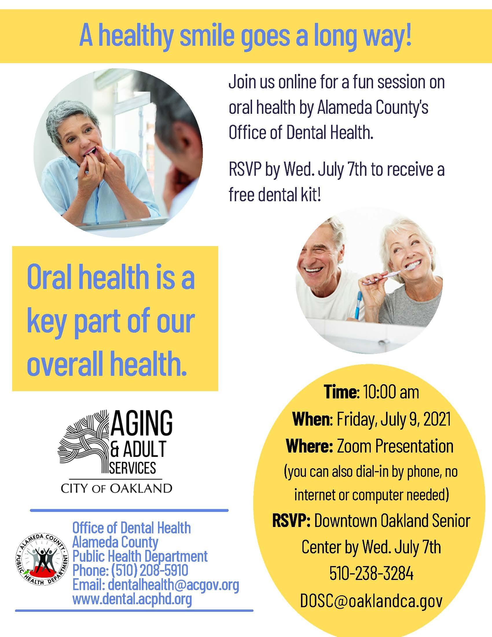 Oral Health for Seniors Presentation Image