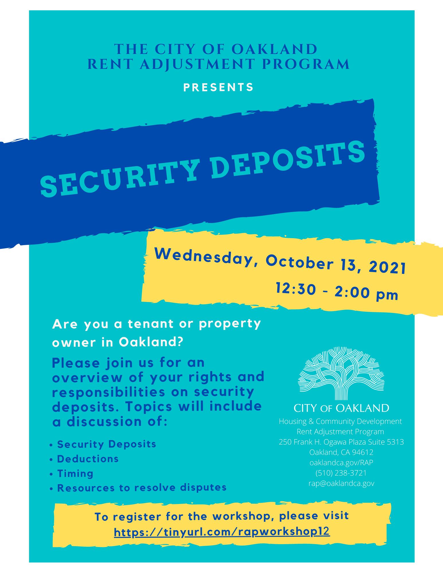 Security Deposits Workshop Image