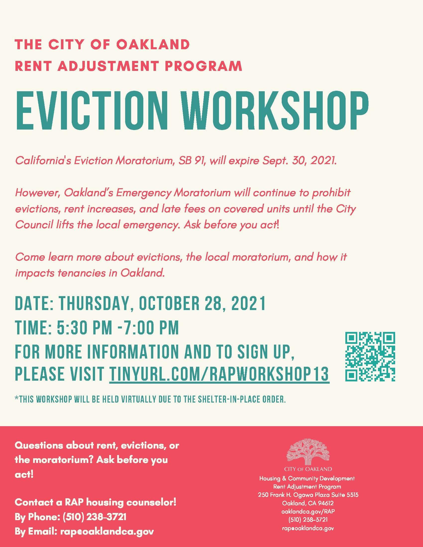 Eviction Workshop Image