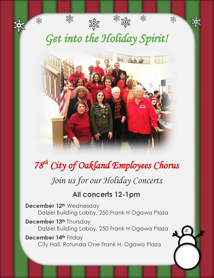 78th Annual City of Oakland Employees Chorus Holiday Concert Image