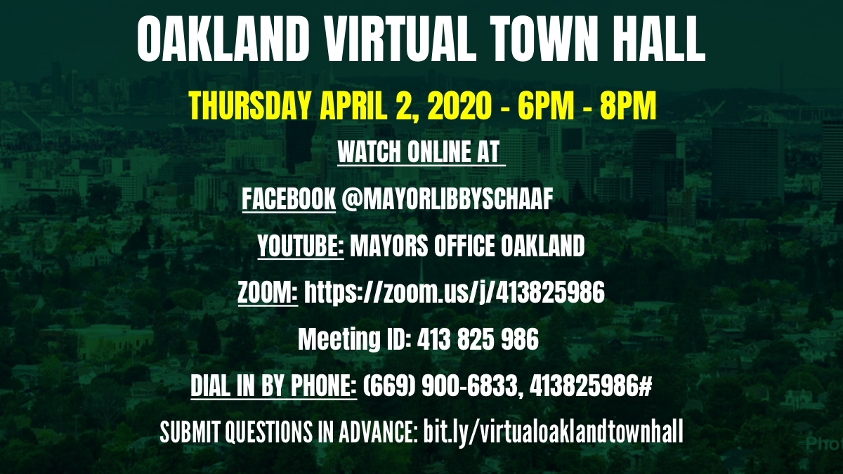 Oakland Virtual Town Hall Image