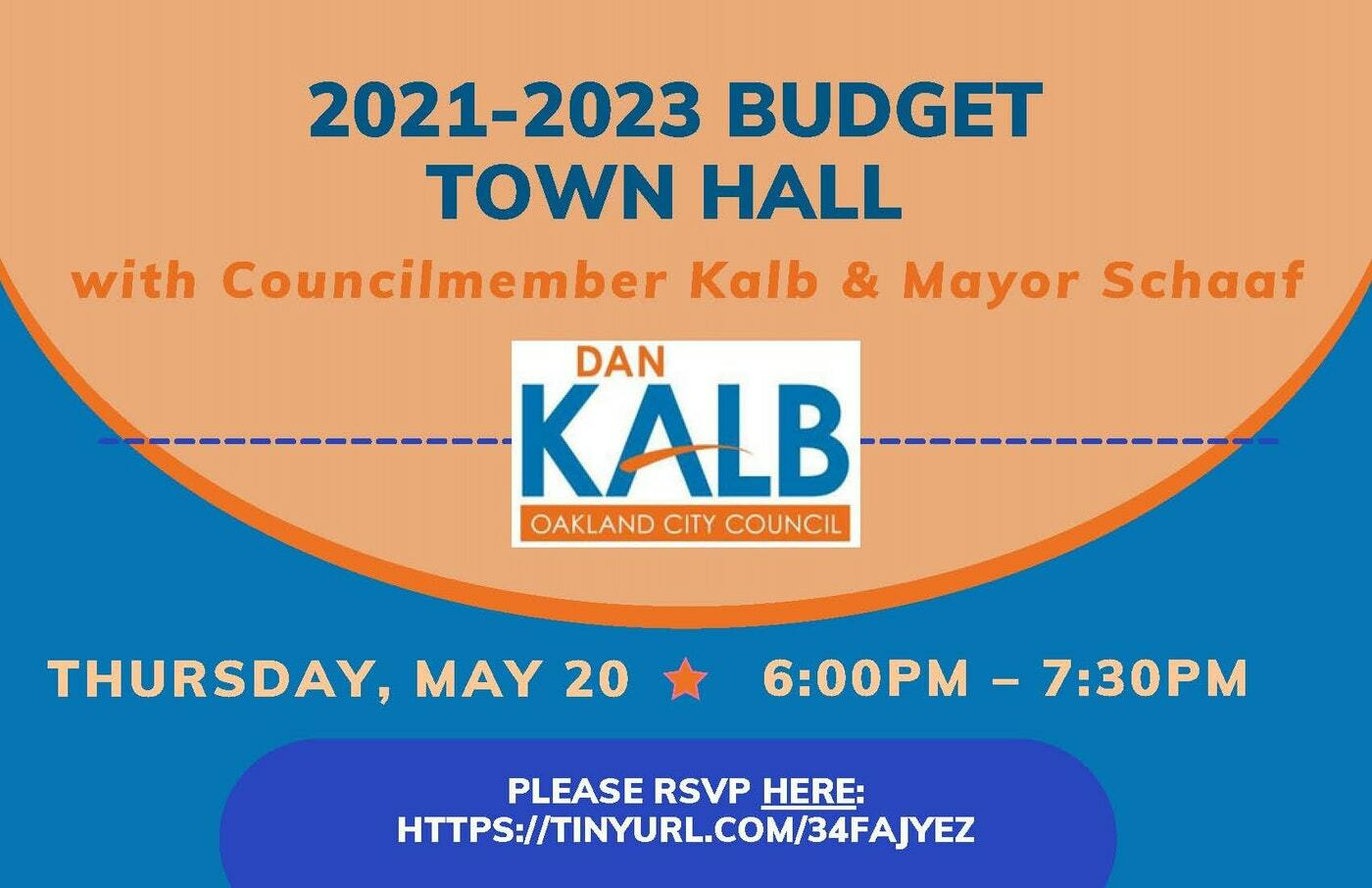 Flyer for Budget Town Hall May 20th