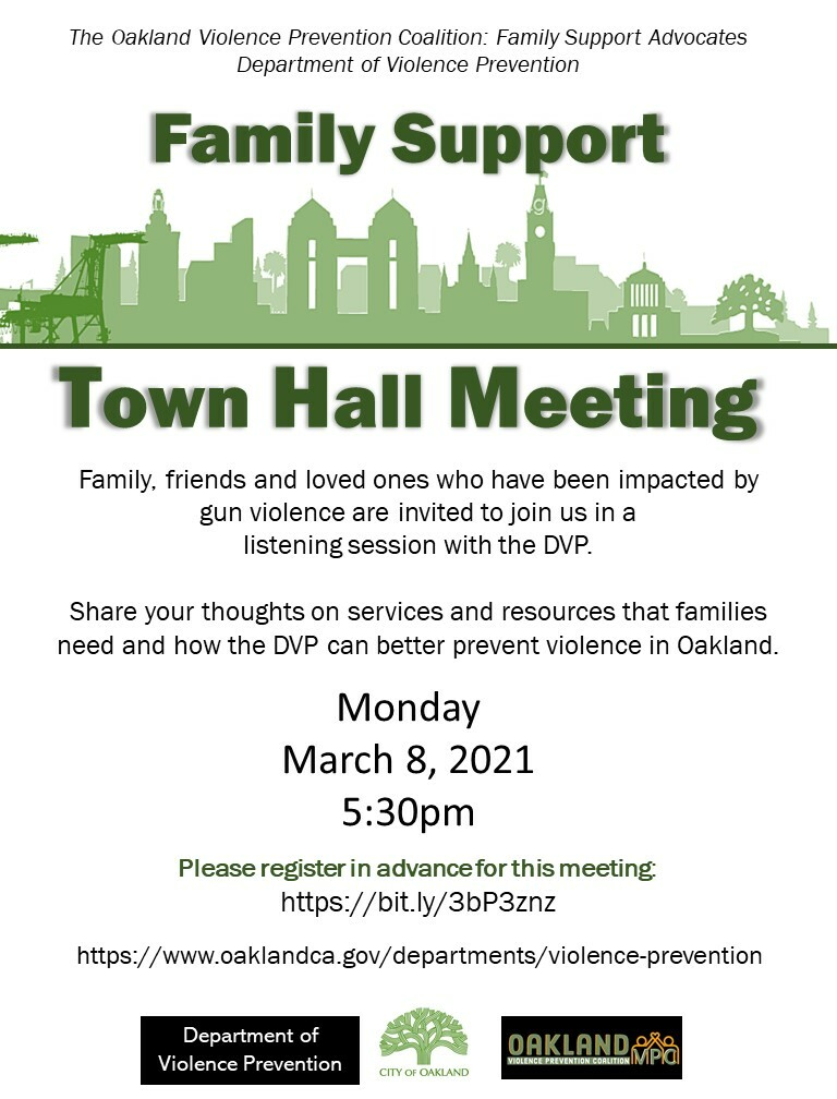 Family Support Town Hall Flyer