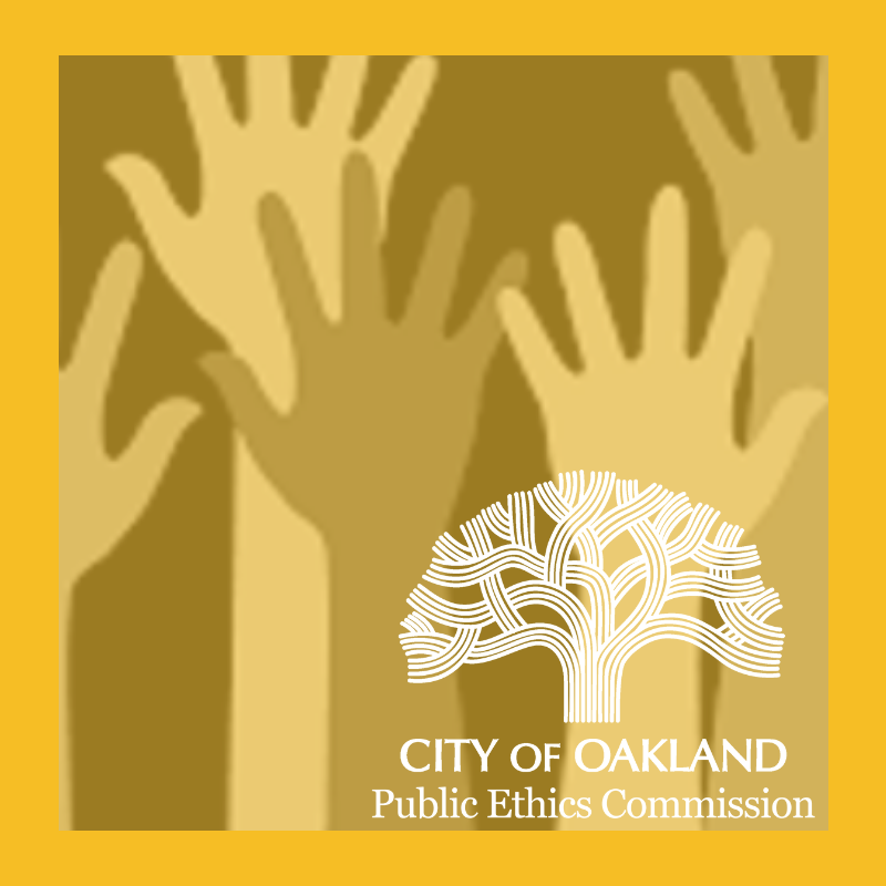 Public Ethics Commission Meeting Graphic with Hands