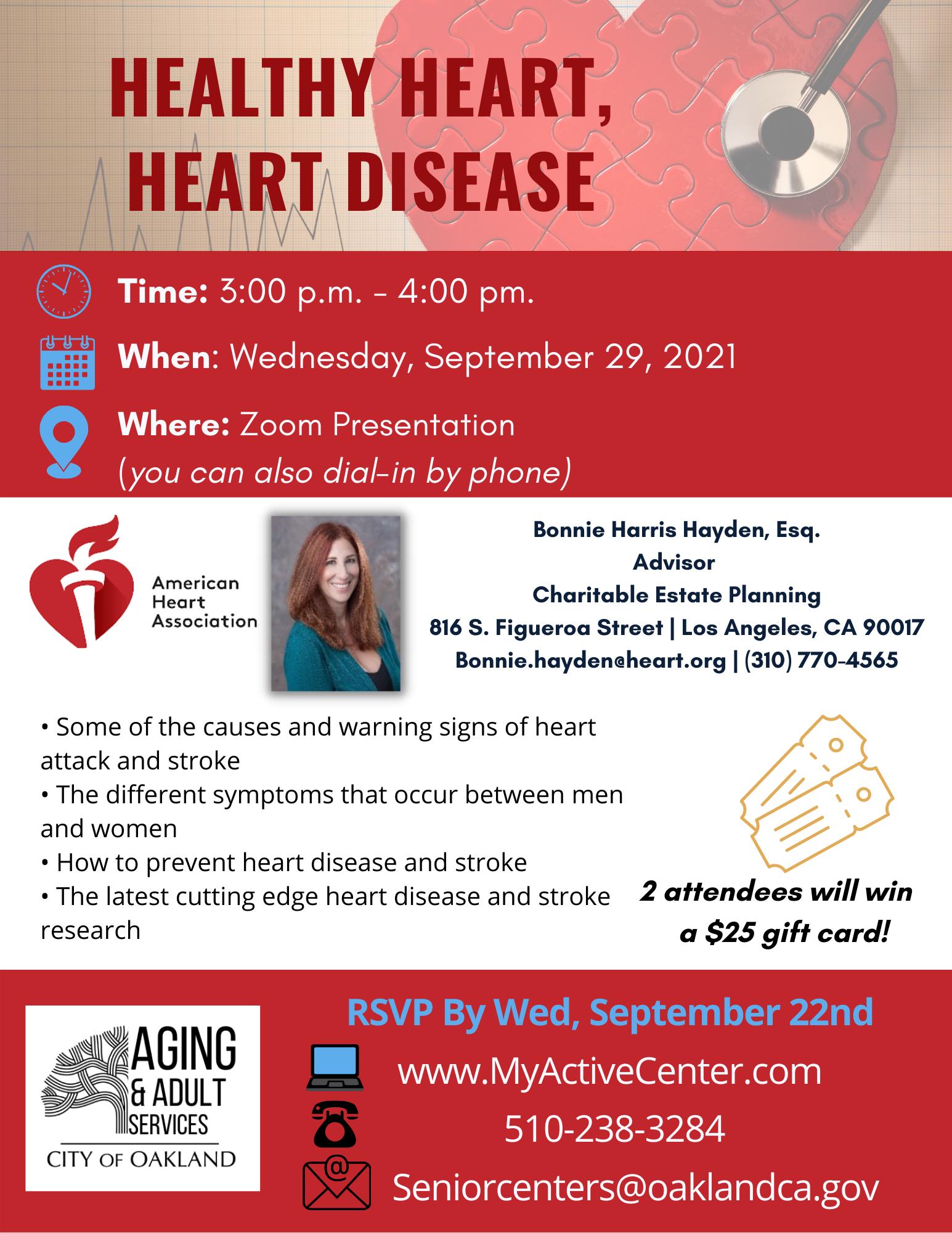 Healthy Heart, Heart Disease Presentation Image