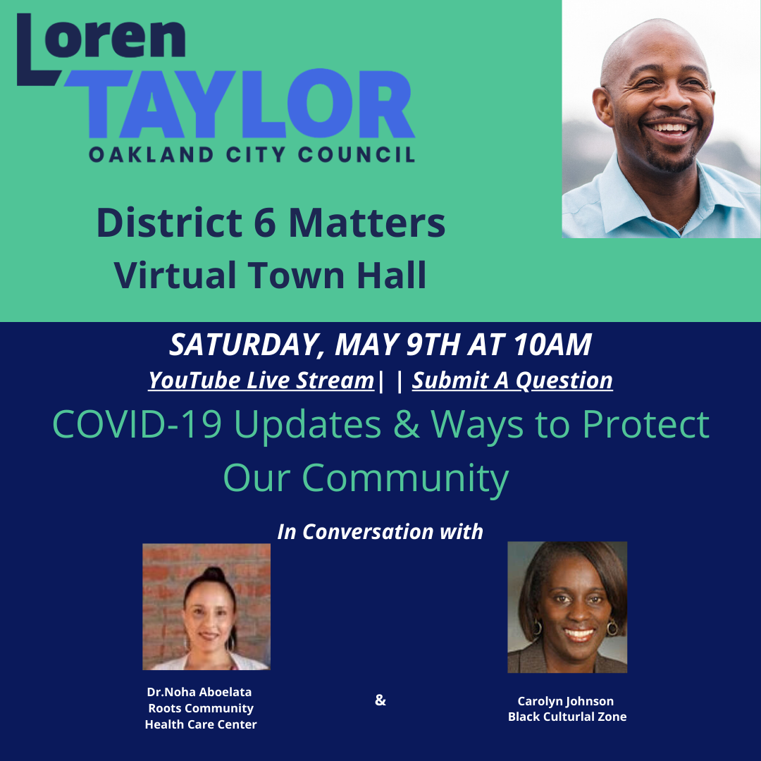 District 6 Matters: Virtual Town Hall Saturday, May 9th 10 am Image