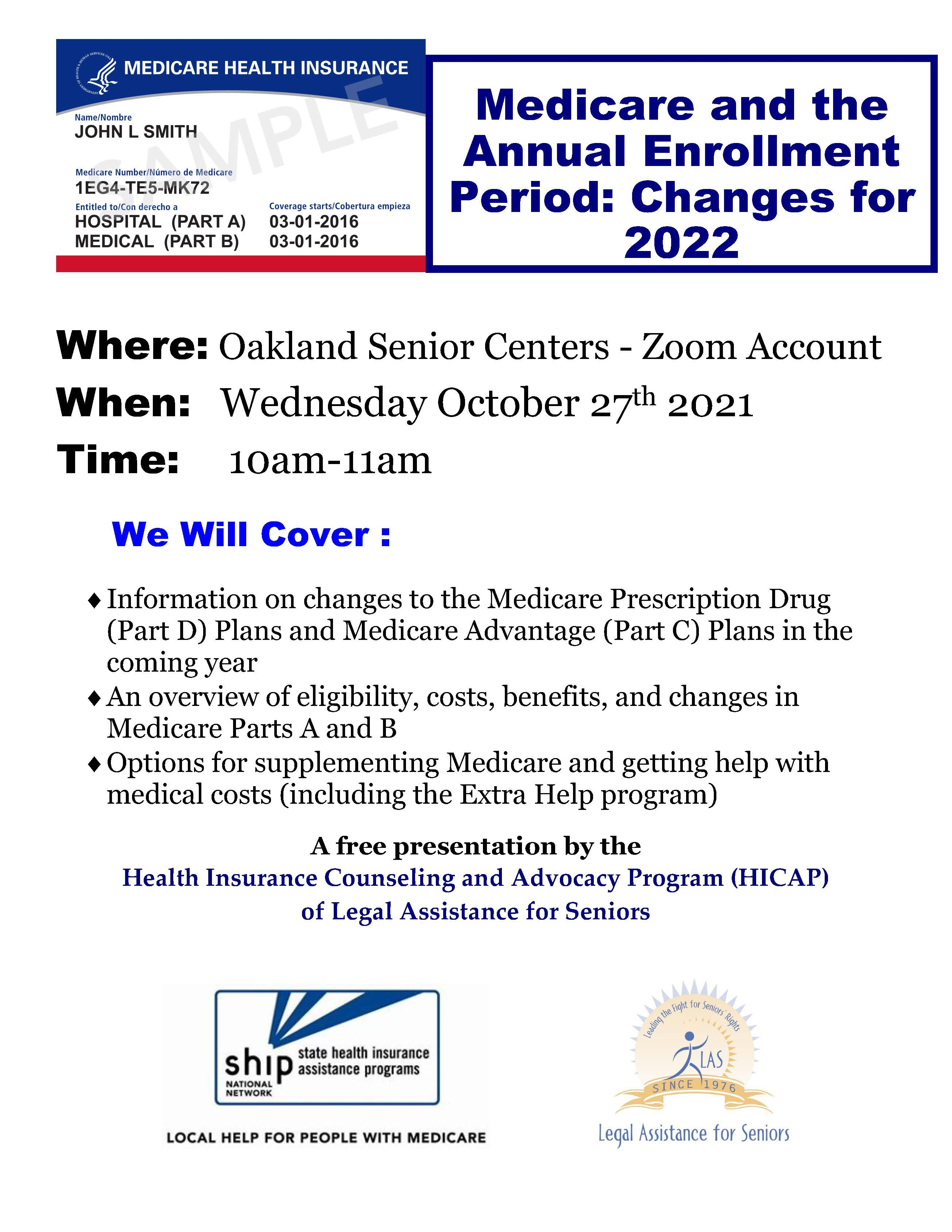 Medicare Annual Enrollment Flyer