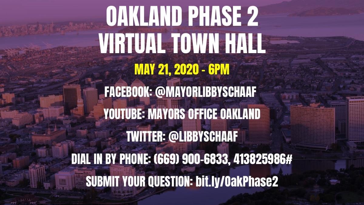 Oakland Virtual Town Hall Image