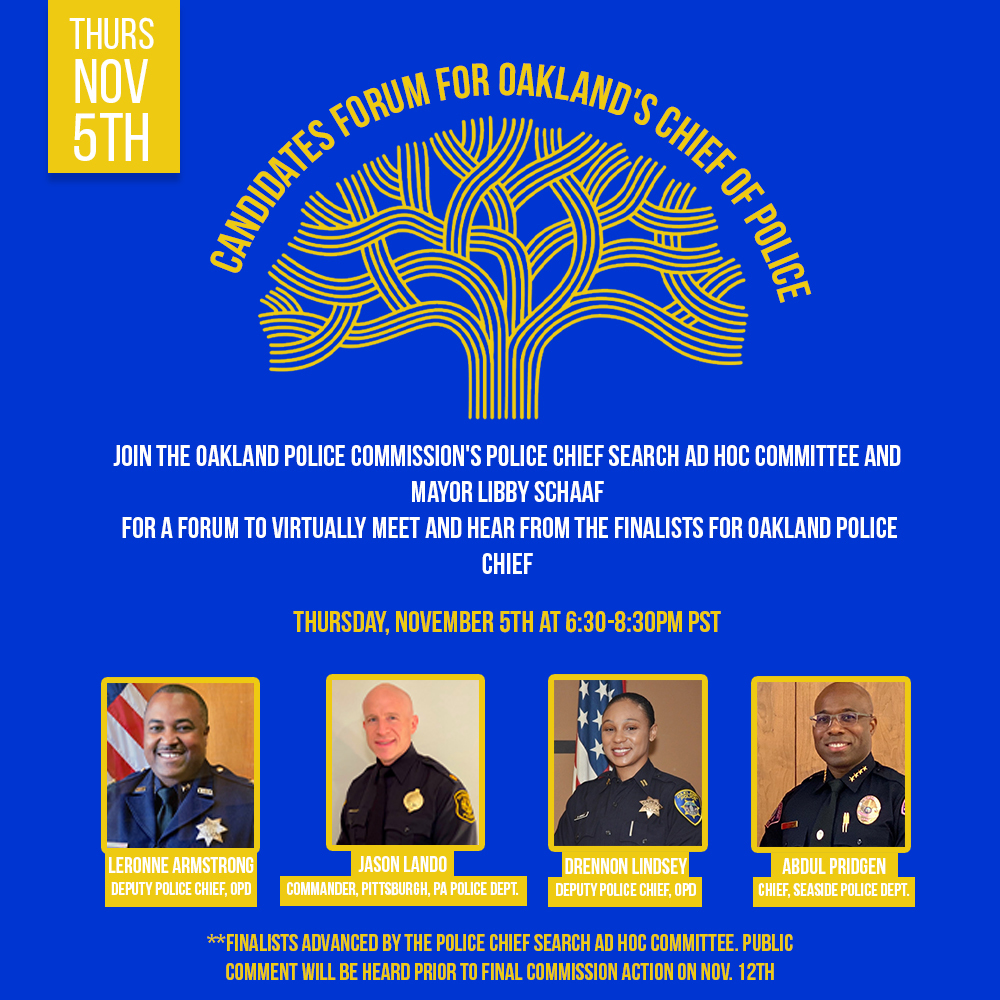 Candidates Forum for Oakland's Next Chief of Police Image