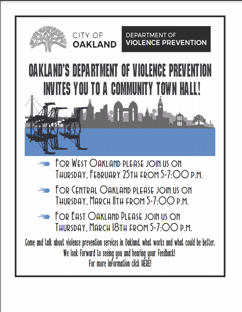 Oakland DVP Townhall for West Oakland Image