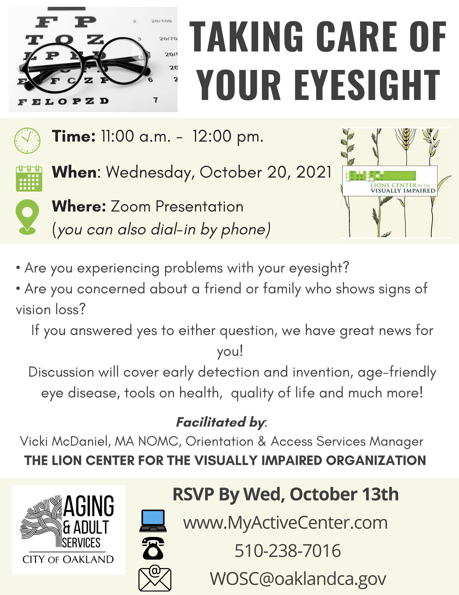 Eyesight Presentation Flyer 10.20.21