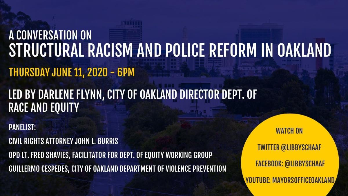 A Conversation on Structural Racism and Police Reform in Oakland Image