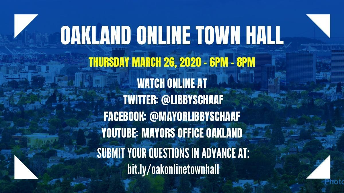 Oakland Online Town Hall Image
