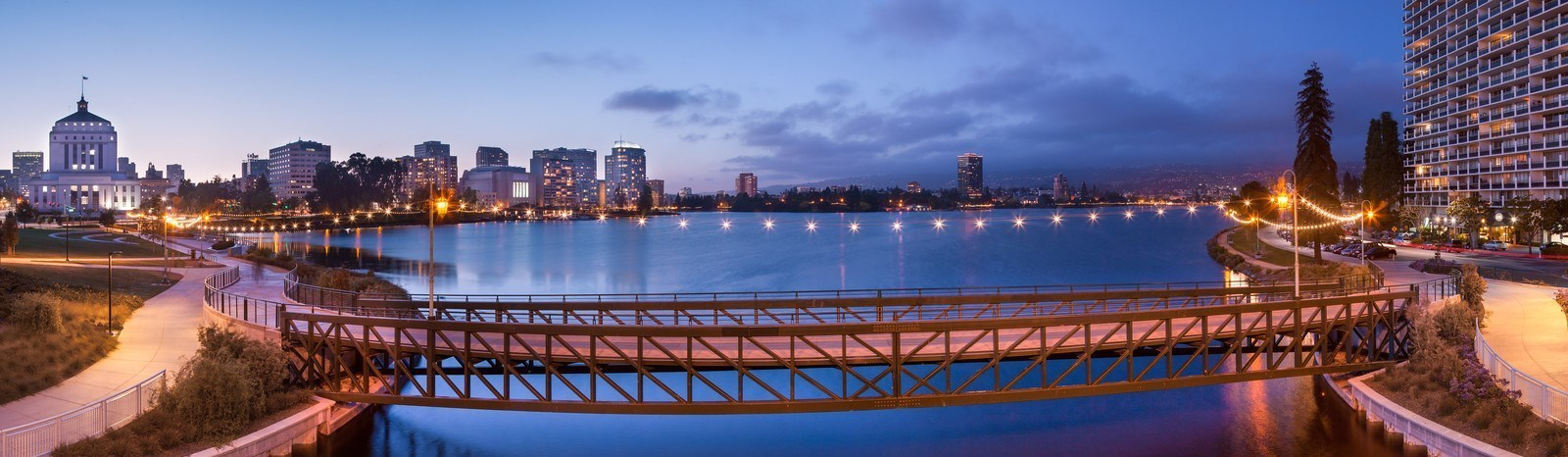 140520 8320 Lake Merritt Bridge Super Hd Panorama X3 Pic For Explore Budget