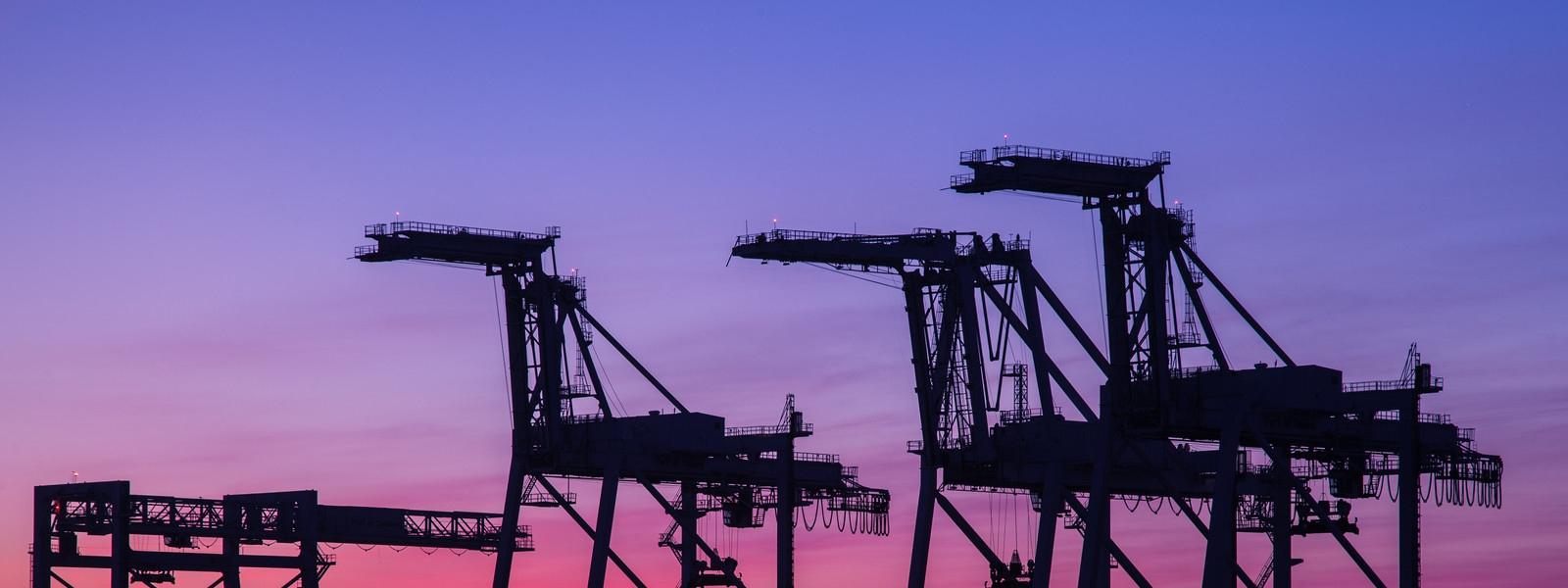 140616 9086 Port Of Oakland Cranes At Sunset X3