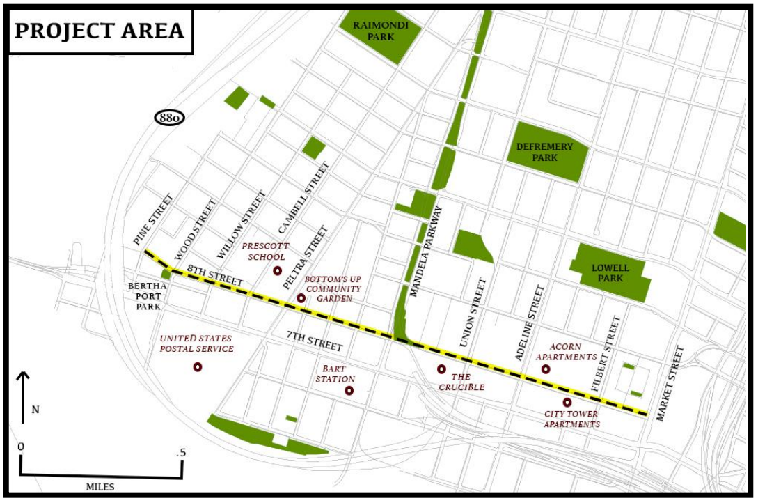 8th street location map