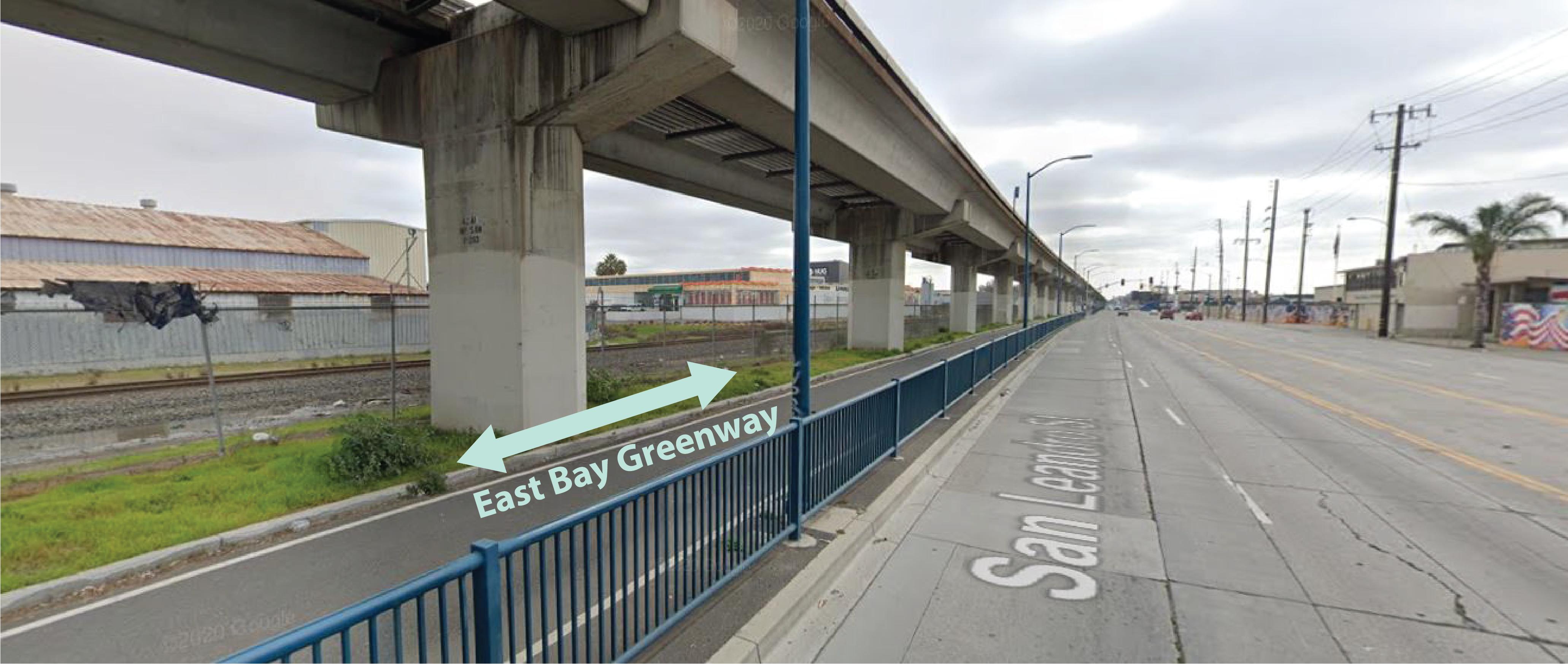 EB Greenway Google map highlighted 01