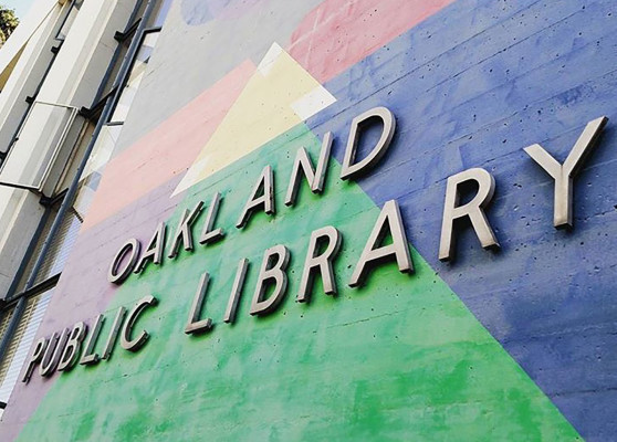 Oakland Public Library Sign