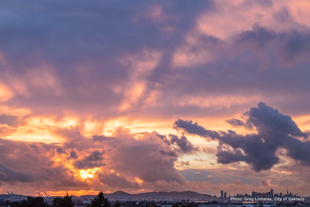 Oakland Sunset After The Storm X2