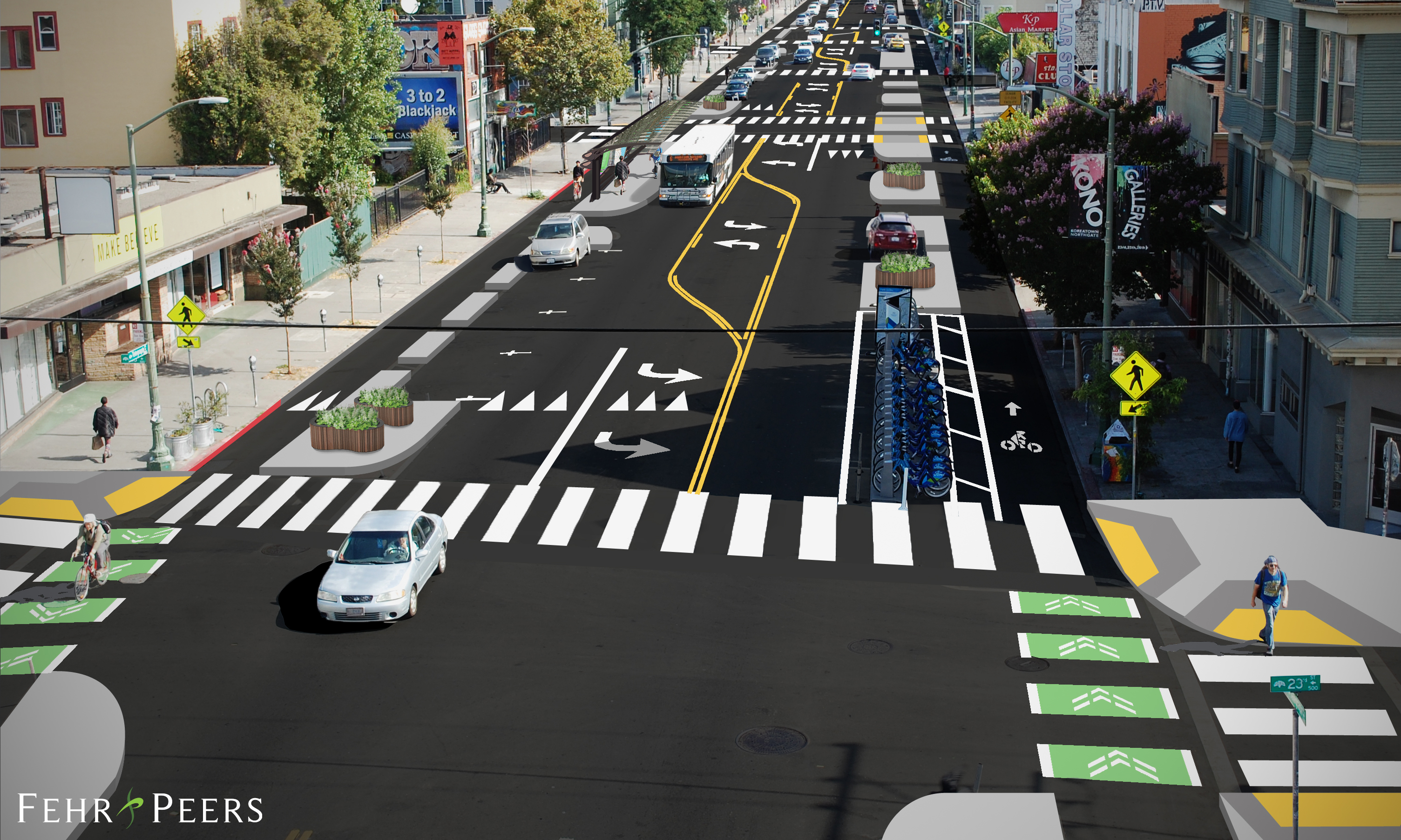 Potential grant-funded Telegraph Avenue KONO improvements