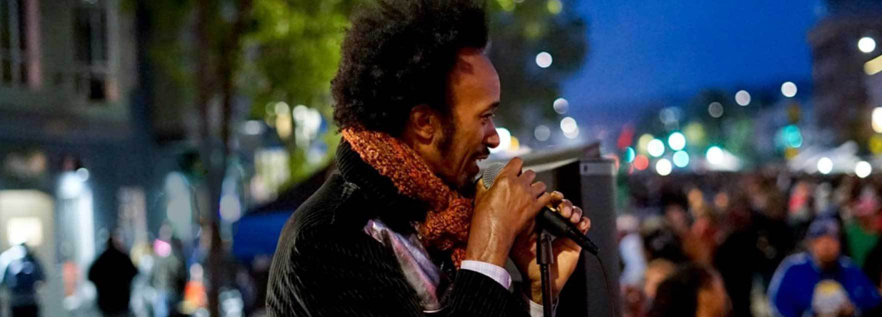Photo: Grammy winner Fantastic Negrito courtesy of Oakland First Fridays