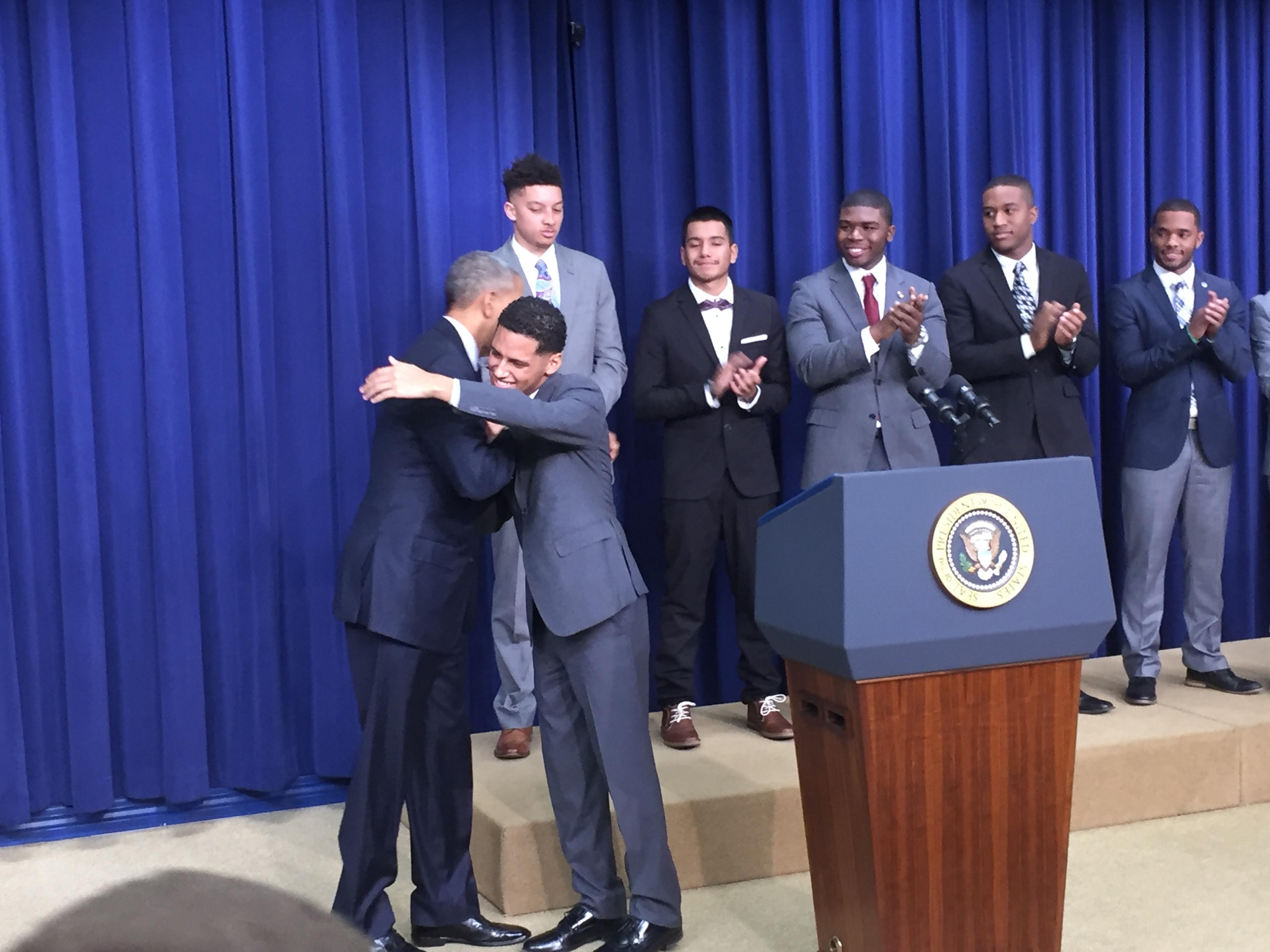 Luis Ramirez Barack Obama Hug 2