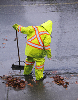 Storm Safety Drain Cleaner Guy